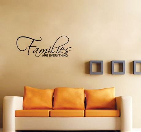 Families Are Forever Wall Papers Home Decor Wall Art Sticker Quote Living Room / Hallway / Kitchen(China (Mainland))