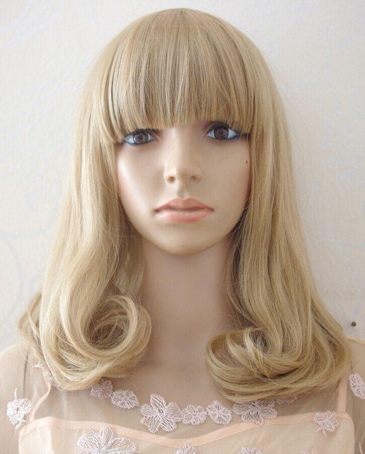 Cosplay Party Medium Long Wave Hair 100% Kanekalon Fiber 45cm Synthetic Wigs Women - HONGYAN JUST DO IT! store