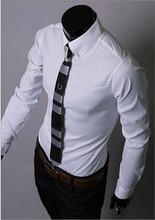 HOT Sale New 2015 High Quality Mens Designer Stripes Dress Shirts Tops Casual Slim Long Shirts 14 Color Size M-5XL Free Shipping(China (Mainland))