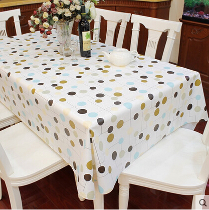 Waterproof Oilproof dining soft PVC Table Cloth Rectangular Tablecloth washable EVA table covers home decoration(China (Mainland))