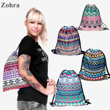 Aztec 3D printing Womens Men's Gym Bags Daypack Luggage Handbag mochila feminina bolso de lazo Travel drawstring bag backpacks