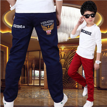Boy pants spring models big virgin Korean children's casual pants boys trousers 2016 new children's clothing Kids Fashion(China (Mainland))