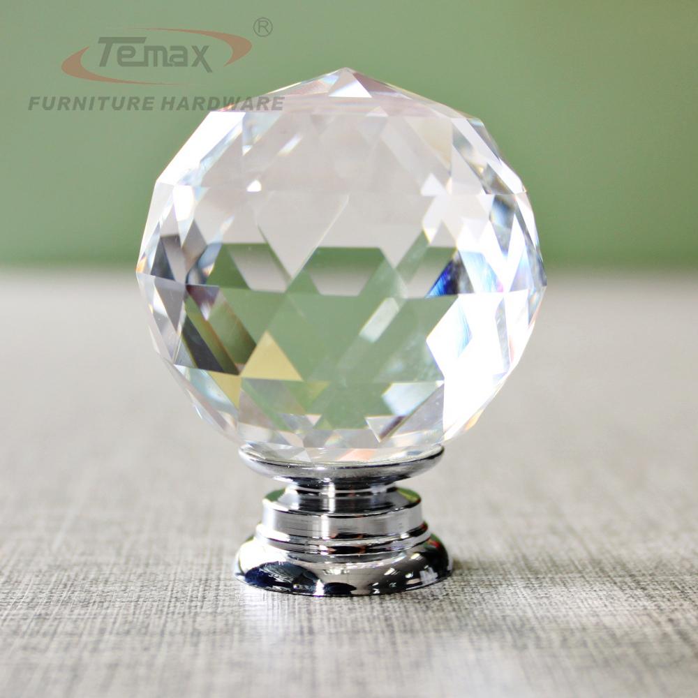 Гаджет  30mm Round Clear Crystal Sparkle Diamond Cabinet Knobs And Handles Dresser Drawer Handles Door Knob None Мебель