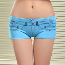 86862 New Arrival Jean Printed  Comfort Underwear Womens Boyshorts Underwear(China (Mainland))