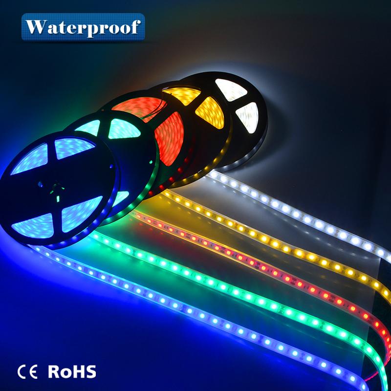 5m SMD 5050 IP67 Tube Waterproof 300LEDs DC12V LED strip lights LED Flexible lamp Swimming Pool / Bathroom /underwater lights(China (Mainland))