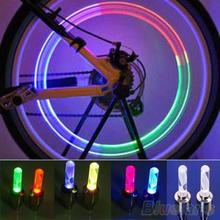 1 Pair Bike Car Motorcycle Wheel Tire Valve Colorful LED Flash Lights Lamps 2KLF(China (Mainland))