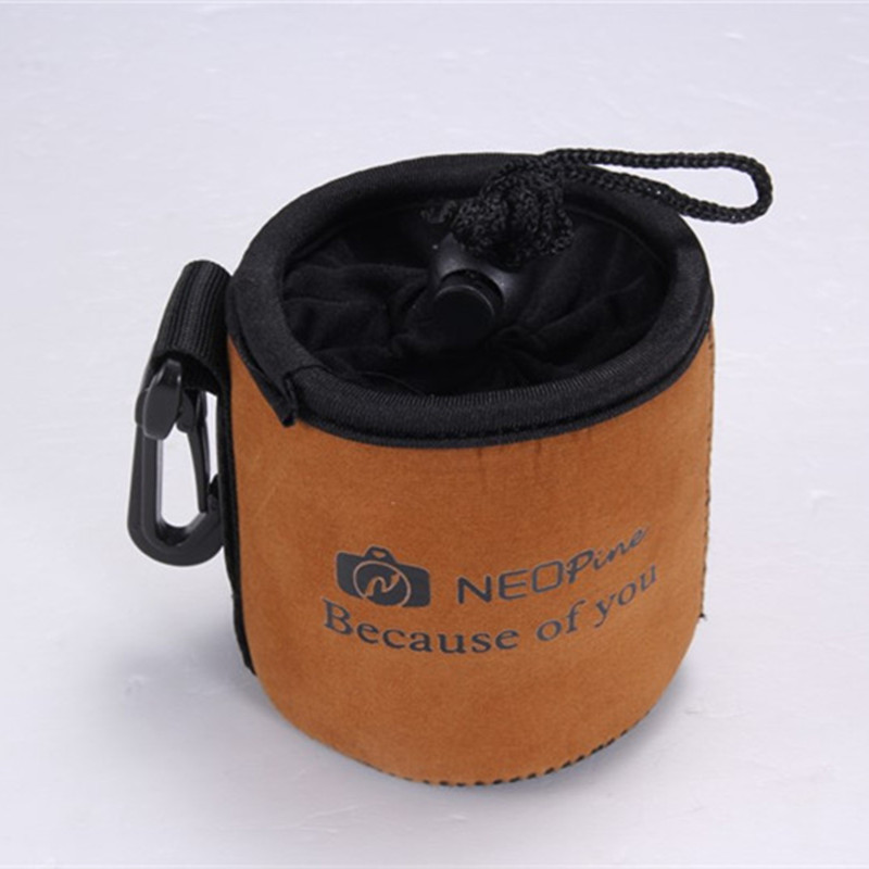 Waterproof Padded Protector Neoprene Camera Lens Case Pouch Bag for DSLR Lenses Size S 8.5x8cm L16(China (Mainland))