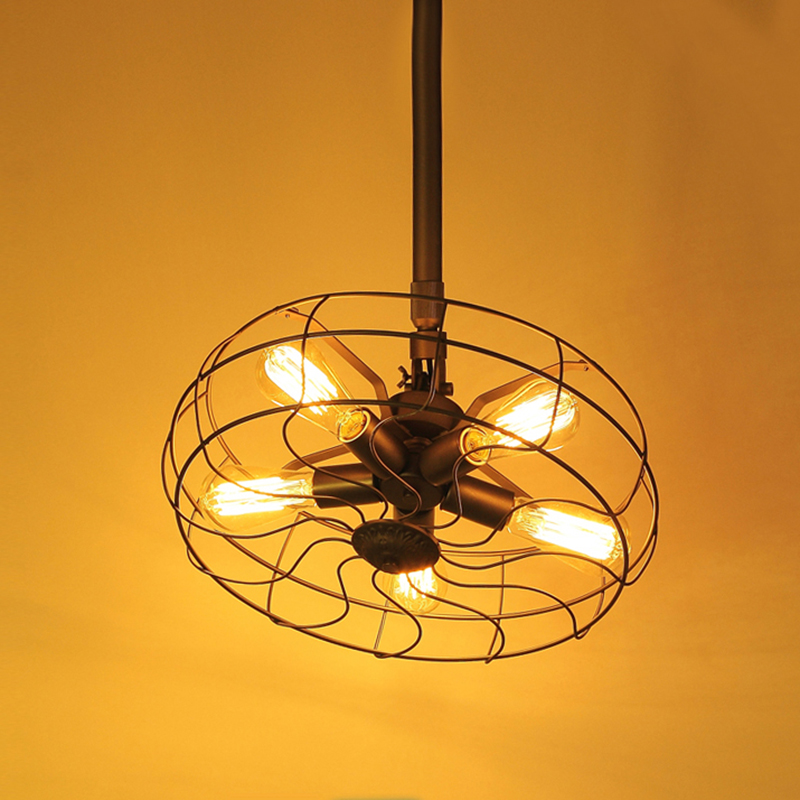 Luxury Retro Industrial pendant lamp pipe Fan Lights edison Vintage Restaurant Living bar Light nordic fixtures lighting<br><br>Aliexpress