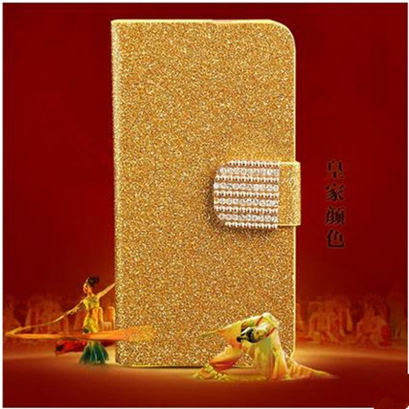 New Luxury Shiny Diamond Full PU Leather Case For Lenovo S720 Cover With Safe Buckle Cell Phone Bling Capa For Lenovo S720(China (Mainland))