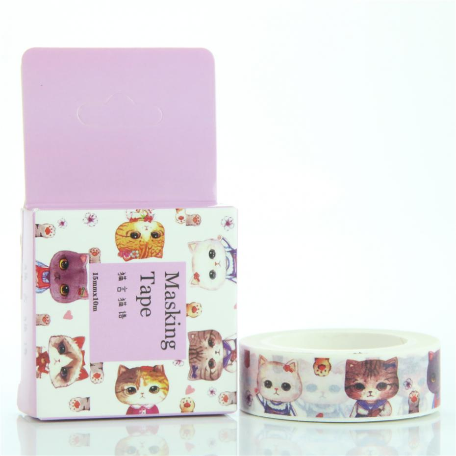 Masking Tape Sealing Paper Tape Boxed Cat Made Cat Language 15mm * 10m(China (Mainland))