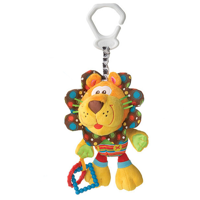 New Baby Plush Toy Crib Bed Hanging Ring Bell Lion Toy Soft Baby Rattle Early Educational Doll(China (Mainland))