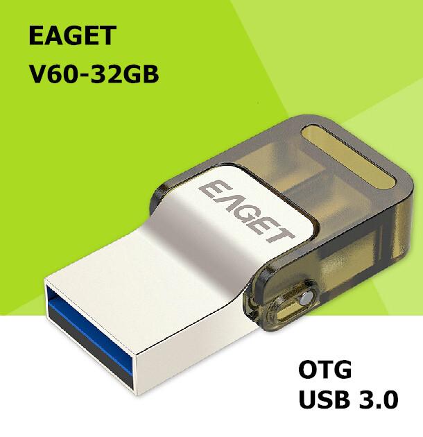 EAGET V60 USB 3.0 100% 32GB Smart Phone Tablet PC USB Flash Drives OTG external storage Micro USB3.0 32G pen drive memory stick(China (Mainland))