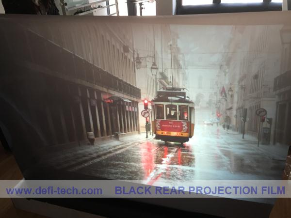NEW ARRIVE! ,,3d Holographic Ultra black rear projection film display vivid and clear picture for shopping WINDOW(China (Mainland))