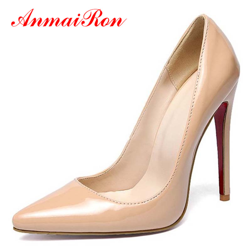 ANMAIRON New Womens Pumps High Heels Shoes Woman Fashion Soft Patent Leather Office Lady Dress Platform Women - Savvy shoes store