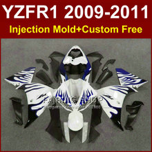 Buy White blue motorcycle fairings YAMAHA YZFR1 2009 2010 2011 Injection mold YZF R1 09 10 11 12 R1 bodyworks YZF1000+7Gifts for $423.20 in AliExpress store