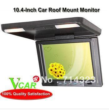 "10.4"" HD LCD Monitor CAR/TRUCK FLIP DOWN Overhead LCD Roof Mount Drop Down Monitor HD 16:9 free shipping(China (Mainland))"