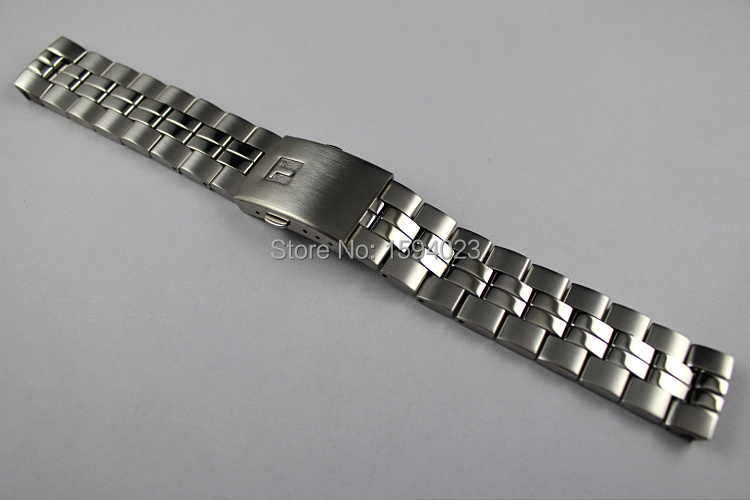 19mm T049417 T049407 T049410 Male models Watch Band T CLASSIC Stainless Steel band For T049