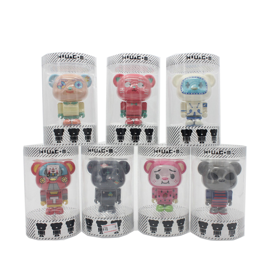 Funko Pop 7 Style Colorful Korean Bear Face Doll 8cm PVC Anime Hot Movie Limited Cute Bear Action Figure Collection Kid's Toys(China (Mainland))