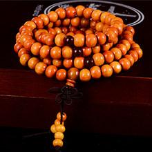 108 חרוזים 8mm טבעי אלמוג בודהיסטי בודהה עץ תפילת חרוזים קשר שחור אבוני יוניסקס גברים צמידים וצמידים נשים(China)