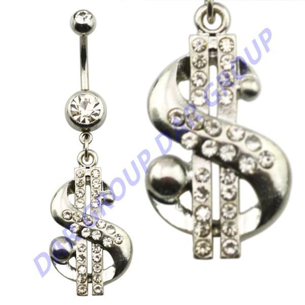 DAR Crystal Dollars Navel Belly Piercing Dangle Jewelry Lot of 50pcs<br><br>Aliexpress