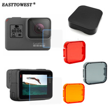 Buy Easttowest GoPro Hero 5 Accessories Lens + LCD Screen Protective Film +Lens Cap +Underwater Diving Filters Gopro Hero 5 for $5.80 in AliExpress store