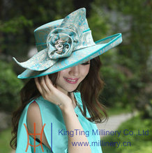 Free Shipping Fashion Formal Hats Women Hats Satin Dress Hat Formal Satin Flower Ribbons Bows With Ladies' 100% Polyester Made