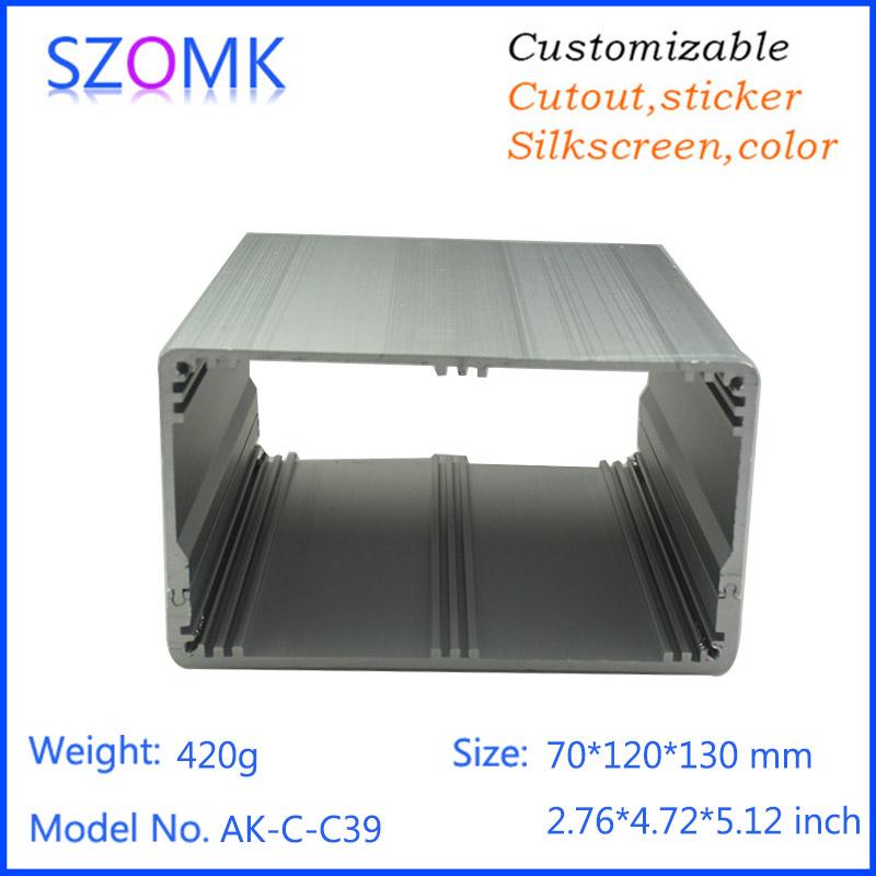10 pcs, 70*120*130mm anodizing aluminum electronics box enclosure switch box china manufacturer electronic diy aluminum box(China (Mainland))