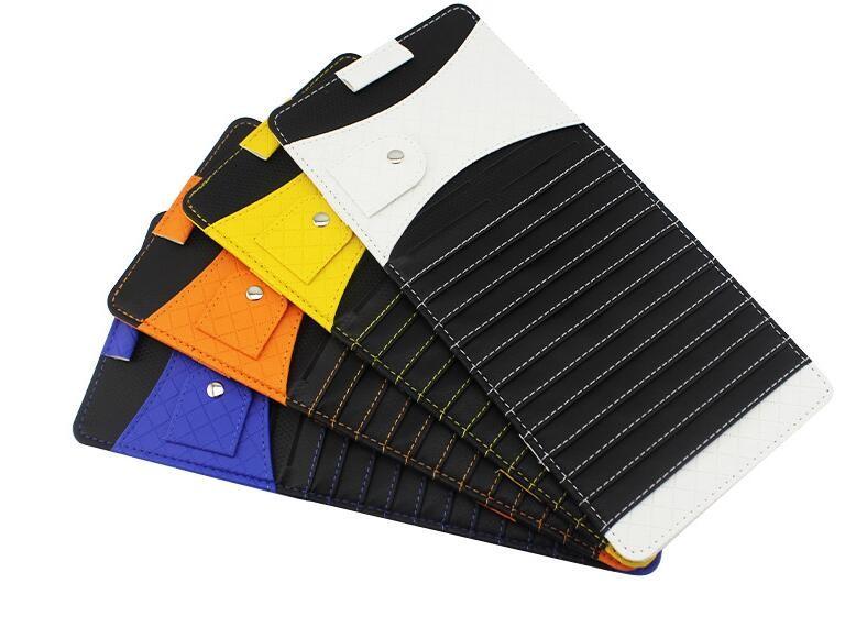 Leather Auto sunshade prevent dazzle car sun shade window visor mirror shading eye car solar protection car-styling