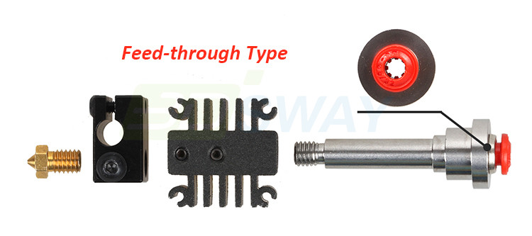 3DSWAY 3D Printer Parts Integrated Metal Universal Hotend Kit 0.4mm1.75mm Long-distance Feed E3D Hot End Kit (1)