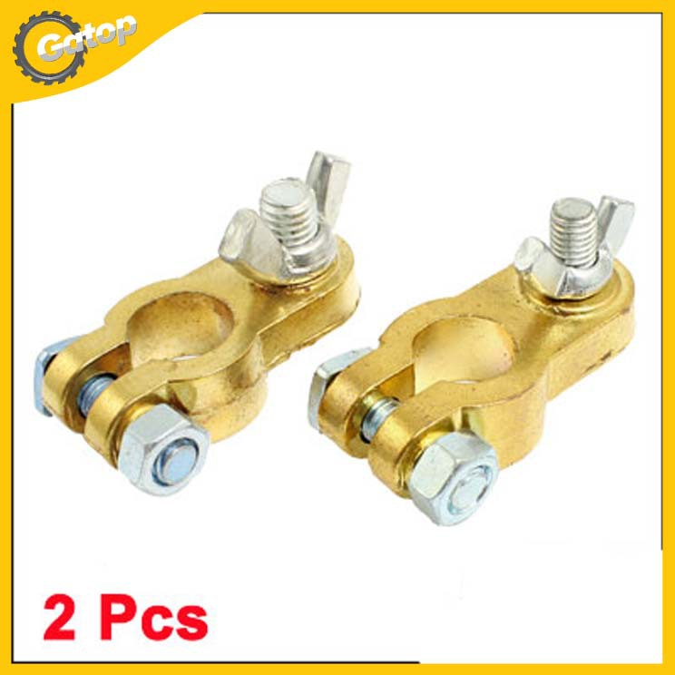 2 Pcs Metal Straight Type Battery Terminals Parts for Car(China (Mainland))