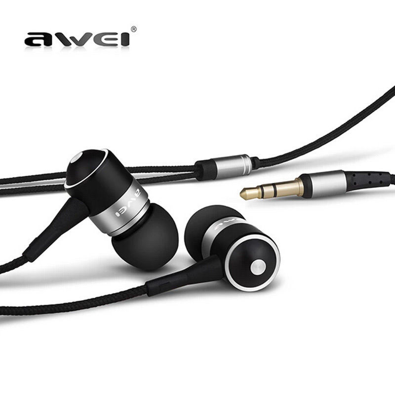 Original AWEI ES Q3 Noise Isolation Headphone In ear Style Earphone for Phone MP3 MP4 Players