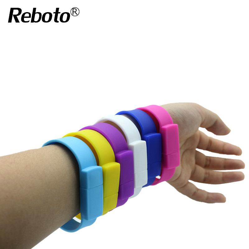 Color silicone bracelet USB Stick 4GB 8GB 16GB 32GB 64GB USB Flash Drive Pen Drive Stick wristband U disk Pendrives(China (Mainland))