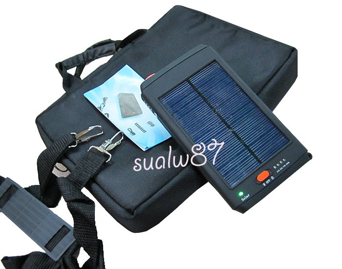 New 2011 High Capacity 11200MAH portable solar power charger+Carrying bag for notebook laptop tablet android mobile phone(China (Mainland))