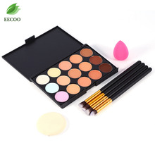 Buy 4Pcs Makeup Brushes Set Foundation Concealer Powder Cosmetics Brush Set +15 Colors Concealer Palette Kit + 2Pcs Powder Puff for $6.86 in AliExpress store