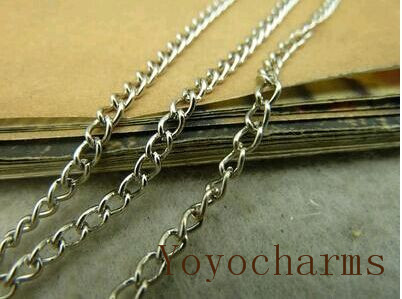 free shipping--10 meters white K 2.5x3.5mm 8 characters chains(China (Mainland))