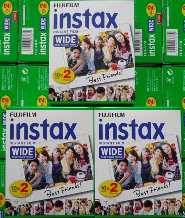 ถูก สูงqulaityเดิมFujifilm Instaxทันทีฟิล์มกว้าง20สีขาวแผ่นสำหรับ300 200 210 100 500AFจัดส่งฟรี