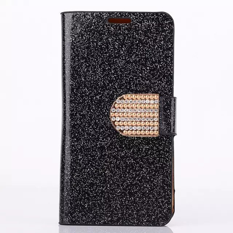 5S Luxury Bright Glitter PU Leather Case for iphone 5S 5G Phone Bag Card Holder Side Flip stand Rhinestone Cover(China (Mainland))