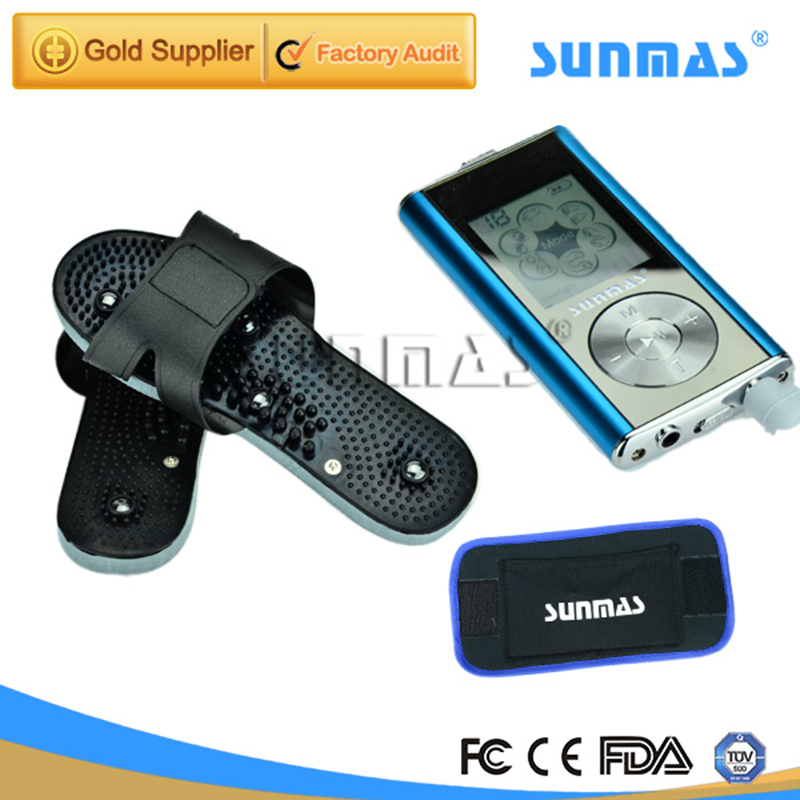 SUNMAS Foot Massage Machine Tens Unit Ems Massager Therapy Pain Foot Massager Microcurrent(China (Mainland))