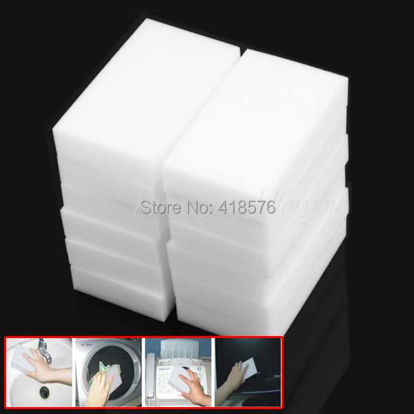 10Pcs Multi-function Magic Melamine Sponge Eraser Cleaner Cleaning Sponges Kitchen Bathroom 100x60x20mm(China (Mainland))