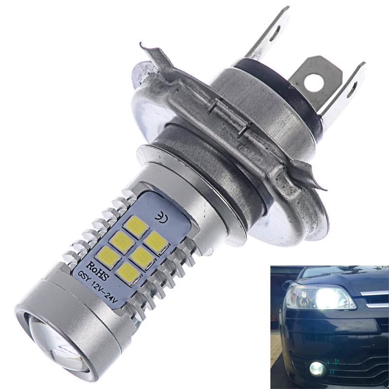 2 PCS High Power LED H4 Car Fog Light 850LM Xenon White 6000K CREE Daytime Running Lights 12V 24V Lamp Bulb For DRL(China (Mainland))