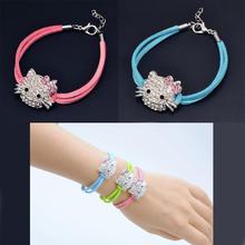 2016 nuovo disegno carino bambini ciao kitty braccialetto della ragazza braccialetto gioielli per bambini e signora del gatto di kt bracciali per la ragazza fine jewelry(China (Mainland))