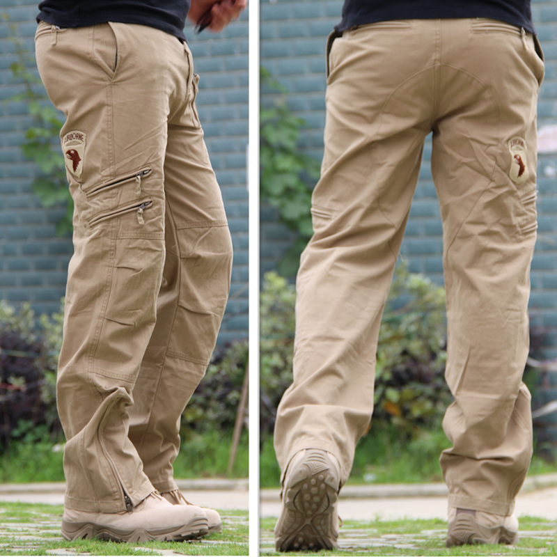 101 Airborne Jeans Casual Training Plus Size Cotton Breathable Multi Pocket Military Army ...