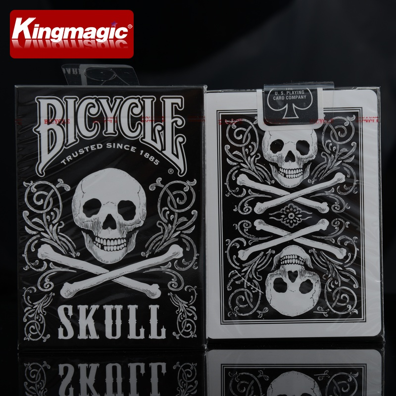 1 Deck Skull Back Deck Bicycle Playing Cards Poker Size USPCC Limited Edition Sealed Magic Tricks Magic Card(China (Mainland))