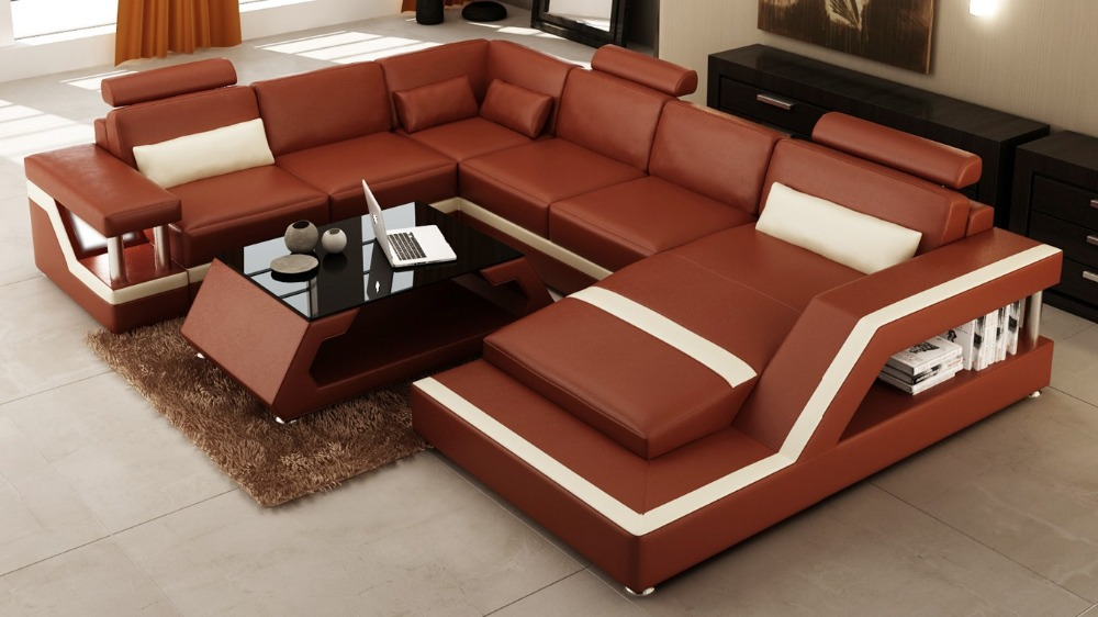 corner sofa bed modern sofa set living room furniture leather