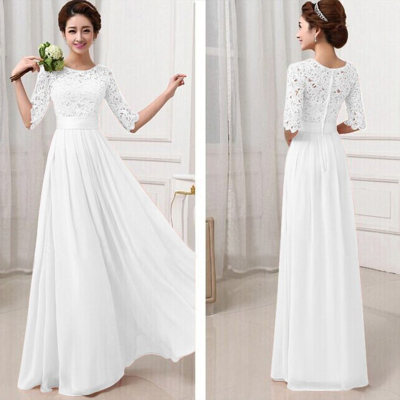 Popular Long White Lace Dresses-Buy Cheap Long White Lace Dresses ...