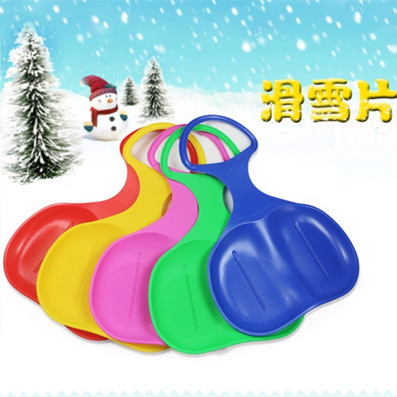 Adult Kids Thicken Plastic Skiing Boards Snow Grass Sand Sledge Sled for Winter Snowboarding(China (Mainland))