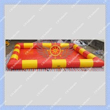 2015 Nice Yellow and Red Inflatable Swimming Water Pool for Water Ball High Quality with Air Pump Fast Free Shipping to  Door(China (Mainland))