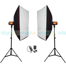 Photography Studio Soft Box Flash Lighting Kits 500ws Godox Storbe Light+Softbox+Light Stand+Trigger Receiver Photo Studio Set
