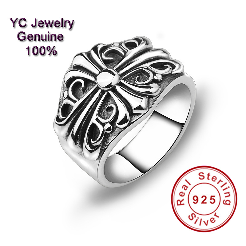Wholesale genuine sterling silver 925 rings vintage style Vintage style fashion rings