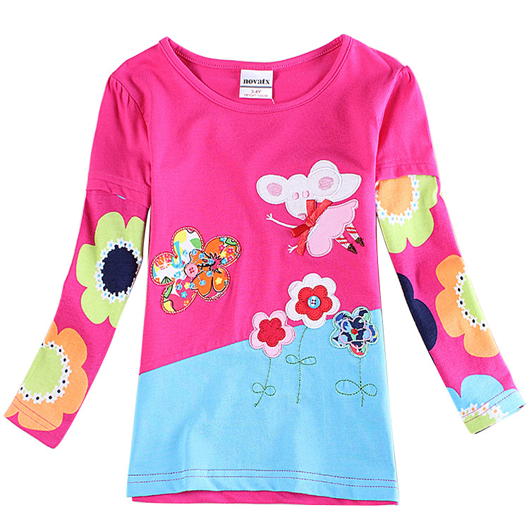 Hot Sale 2 6t Rose Red T Shirts For Girls Brand Girl T